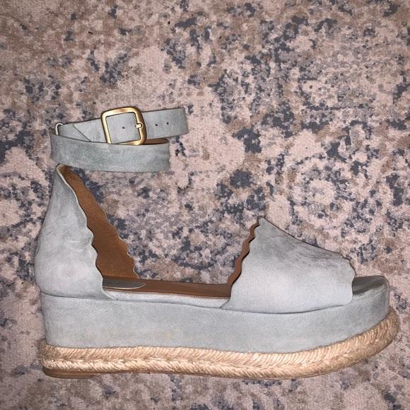 chloe scalloped platform espadrille sandal